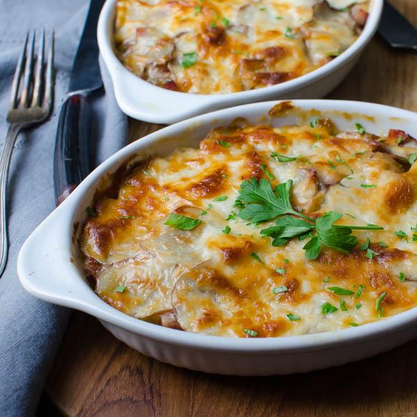 Potato and Ham Au Gratin-16