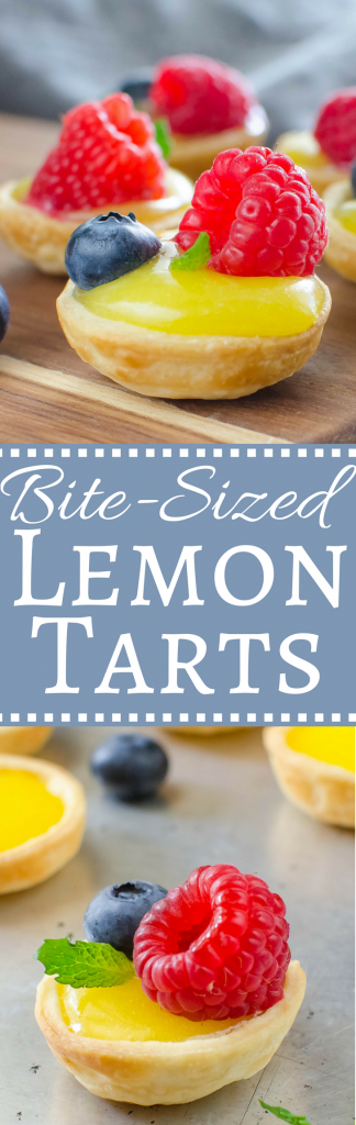 Perfect for a bridal or baby shower, this mini lemon tart recipe is so easy to make!