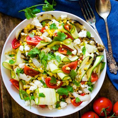 Grilled Summer Salad with Lime Dressing