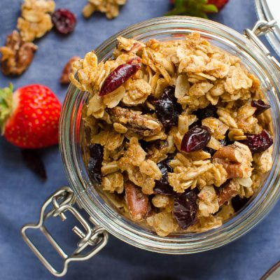Maple Pecan Cinnamon Granola