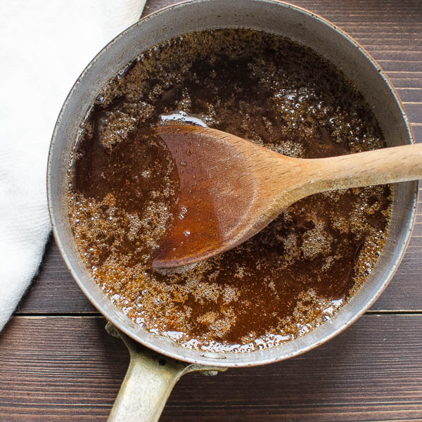 wet ingredients for Maple Pecan Cinnamon Granola