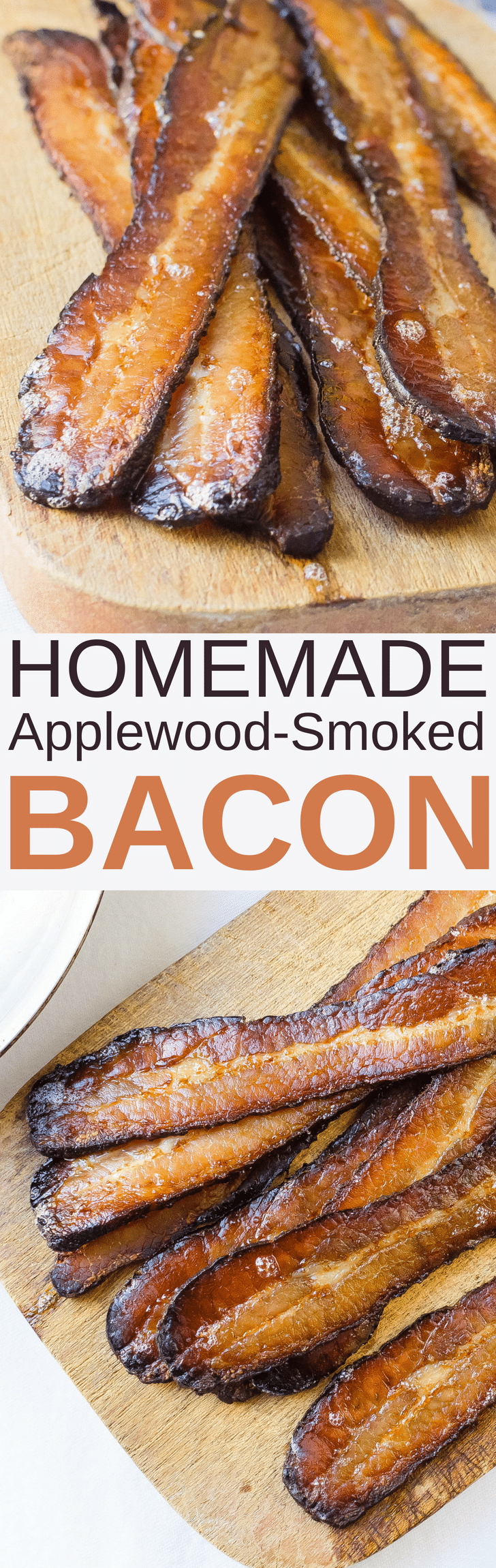 Looking for a good smoked bacon recipe? My Homemade Applewood Smoked Bacon is it! Learn