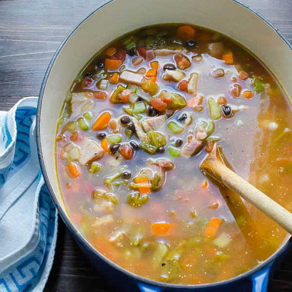 Simmer Belly Warming Hatch Chile Ham Soup