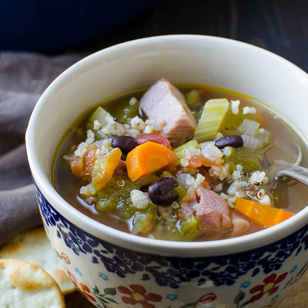Cup of Belly Warming Hatch Chile Ham Soup