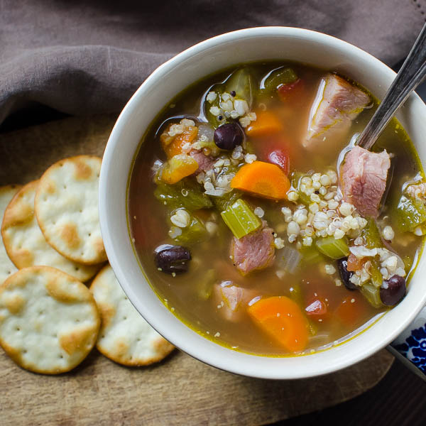 Belly Warming Hatch Chile Ham Soup