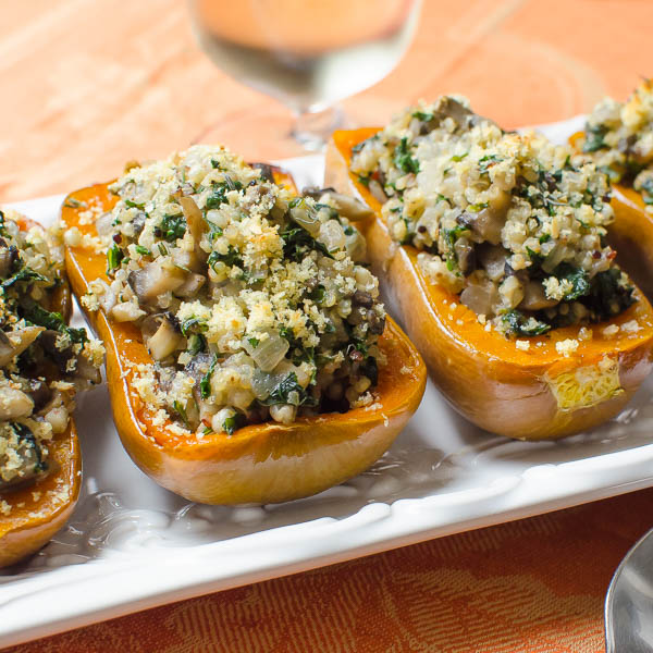 Savory Stuffed Honeynut Squash | Garlic & Zest