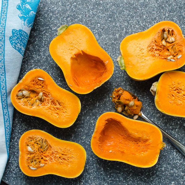 Cut Honeynut Squash