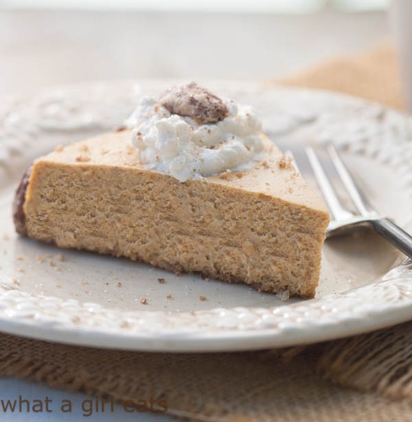 Pumpkin Spice Cheesecake with Bourbon Maple Whipped Cream