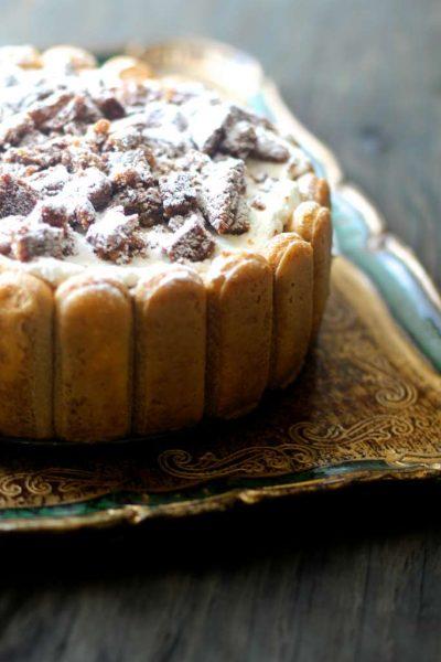 Pumpkin Tiramisu with Molasses Cookie Crumb