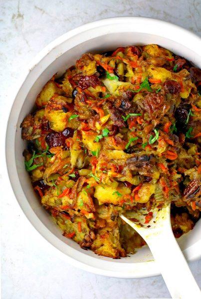 Vegetarian Slow Cooker Stuffing