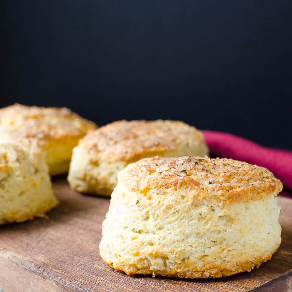 Parmesan Black Pepper Buttermilk Biscuits on board