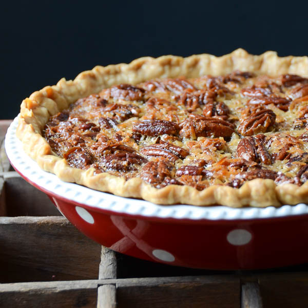 Baked Orange Coconut Pecan Pie