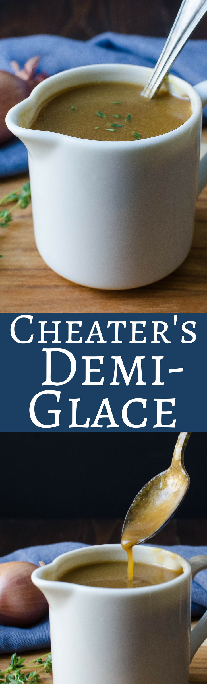 A deep rich demi-glace in less than two hours, instead of two days!  Get the cheater's secret to this rich, umami laden reduction!