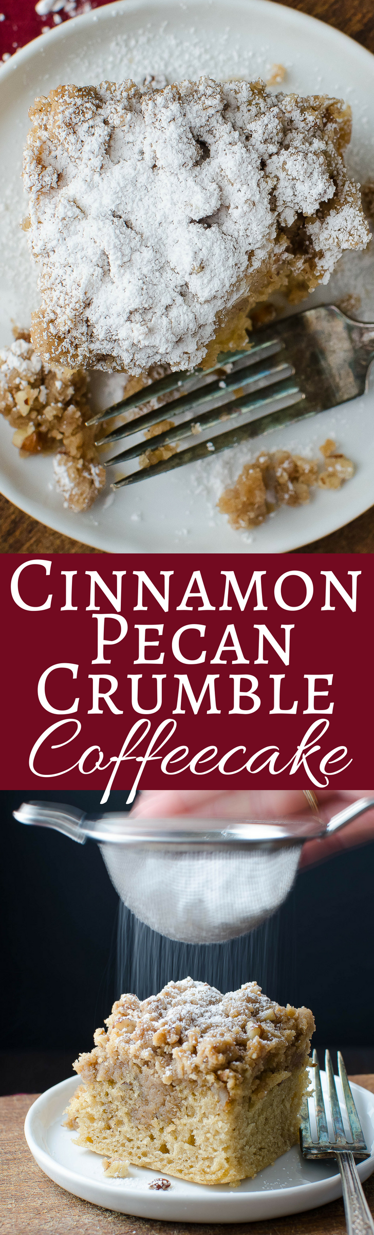 This coffee cake has a 2:1 ratio of cinnamon pecan crumble to cake - simple to make and utterly decadent!