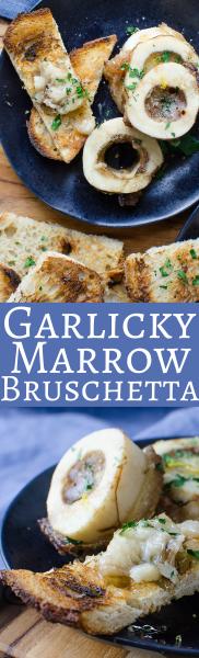 Garlicky Marrow Bruschetta