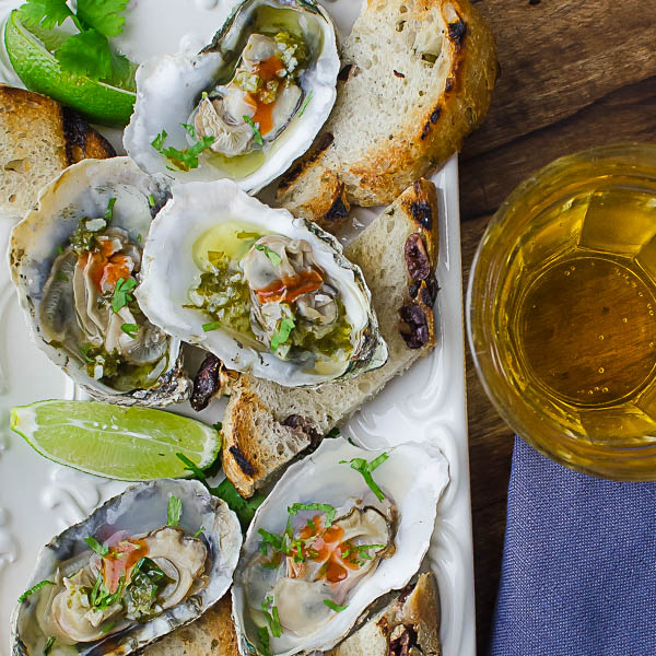Serving Citrusy Grilled Oysters