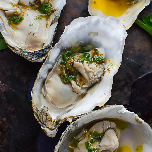 Serving Mardi Gras Grilled Oysters