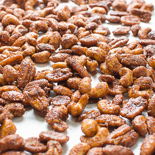 baking Mexican Hot Chocolate Spiced Nuts