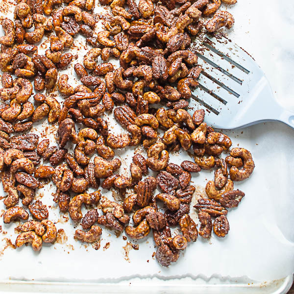 flipping Mexican Hot Chocolate Spiced Nuts