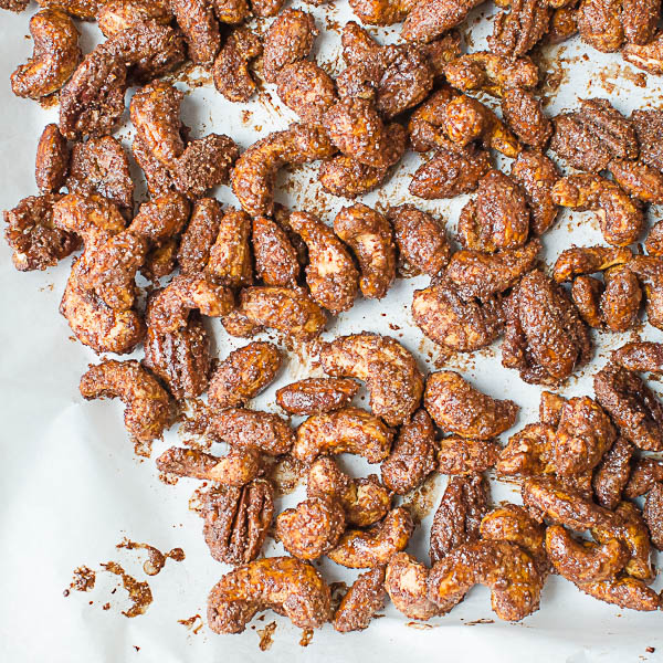 Fully cooked Mexican Hot Chocolate Spiced Nuts