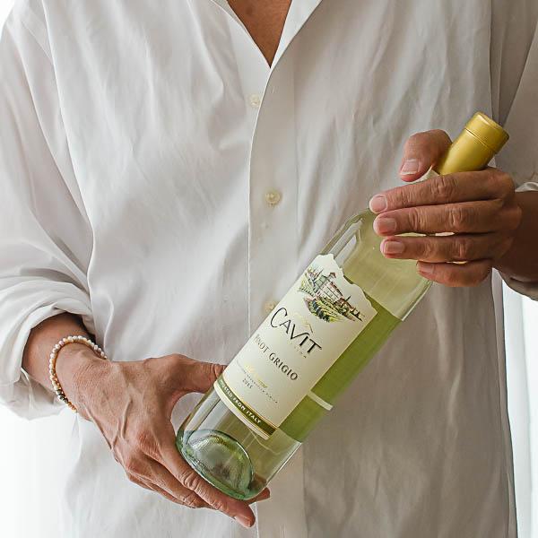 holding wine