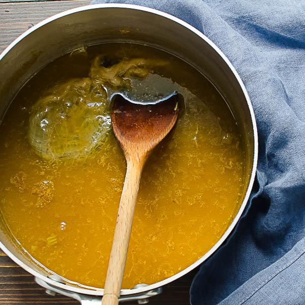simmering stock