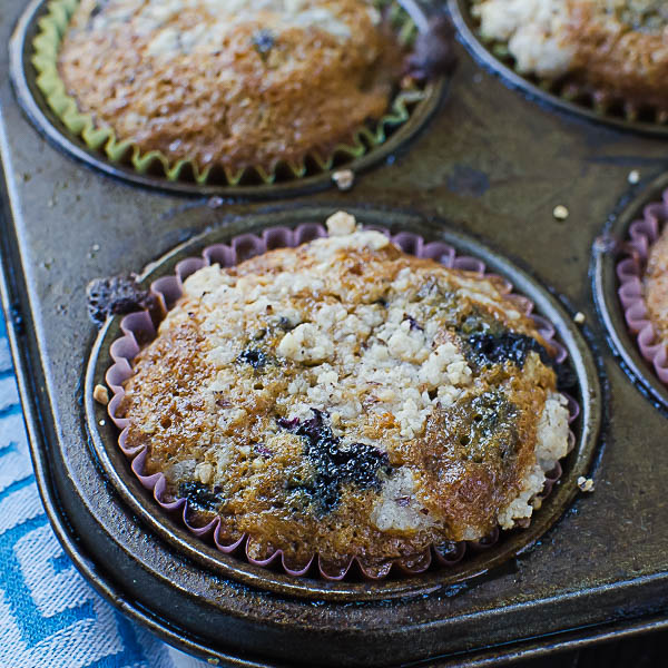 Gluten-Free Blueberry Muffins freshly baked