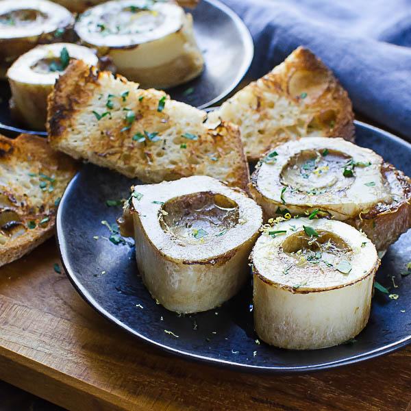 Garlicky Marrow Bruschetta with grilled bread