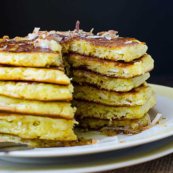 stack of Coconut Orange Buttermilk Pancakes