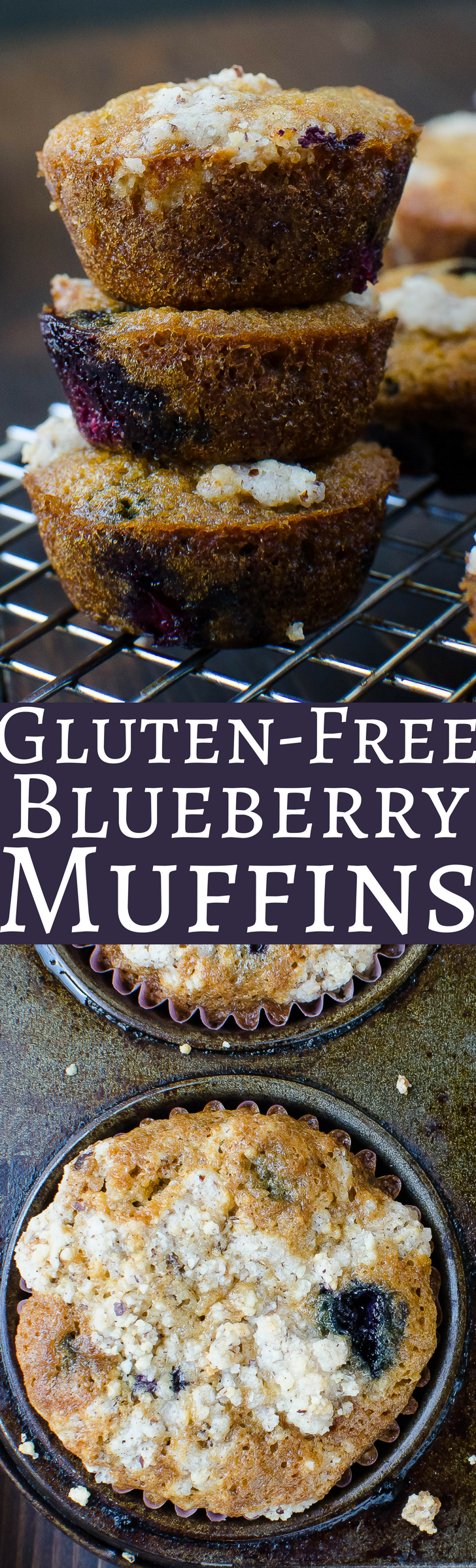 Need a foolproof gluten free blueberry muffin recipe? This one is loaded with blueberries and a yummy streusel topping. #blueberrymuffins #glutenfree #muffins #christmasbreakfast #breakfastmuffins #brunch #christmasbrunch #healthymuffins #breakfastbread #healthyblueberrymuffins #paleo #glutenfreemuffins