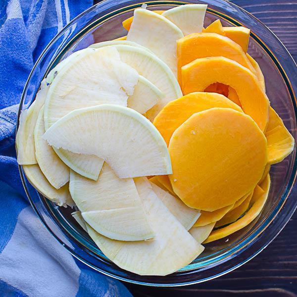 butternut squash and rutabaga