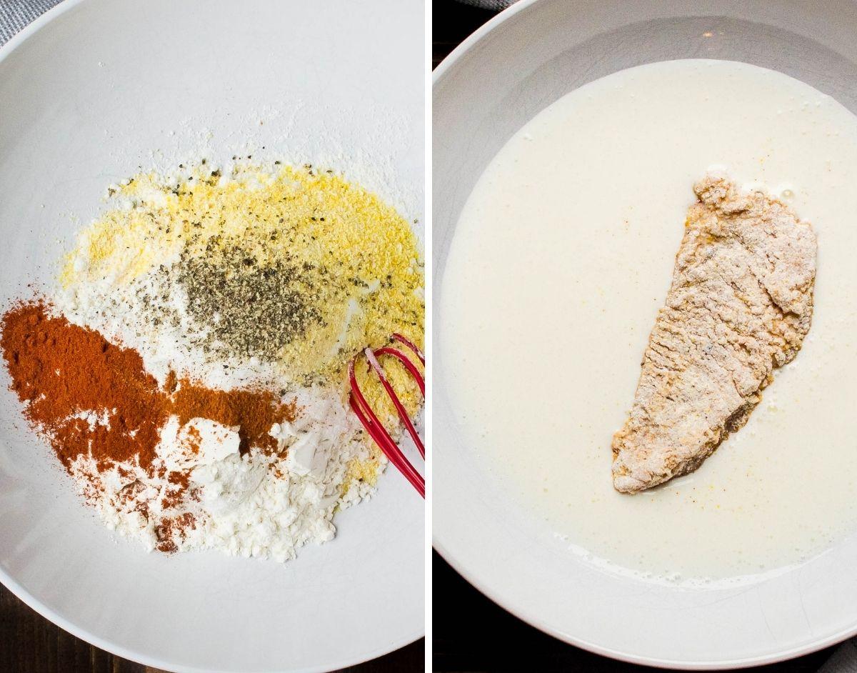 cornmeal and buttermilk dredge.