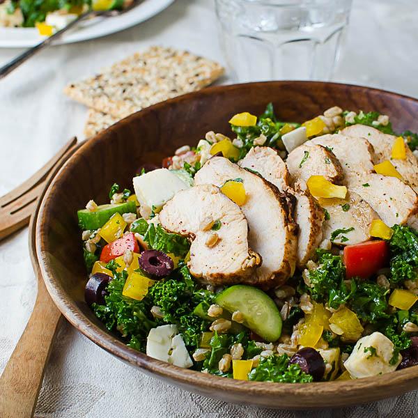 Chicken Kale Farro Salad