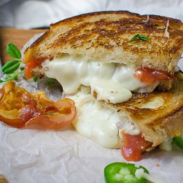 Crispy Pancetta Guava Grilled Cheese