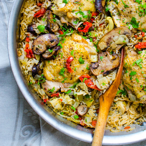 One Pan Mediterranean Chicken