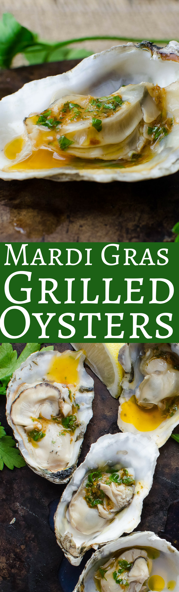 This simple recipe for New Orleans inspired grilled oysters is drenched with tangy spicy Cajun flavor!