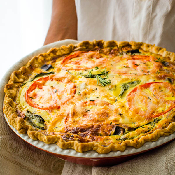 Ratatouille Veggie Quiche Recipe