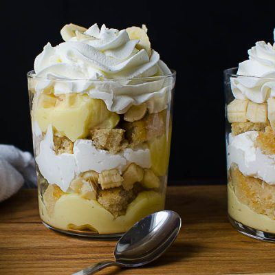 Banana Cream Rum Parfaits