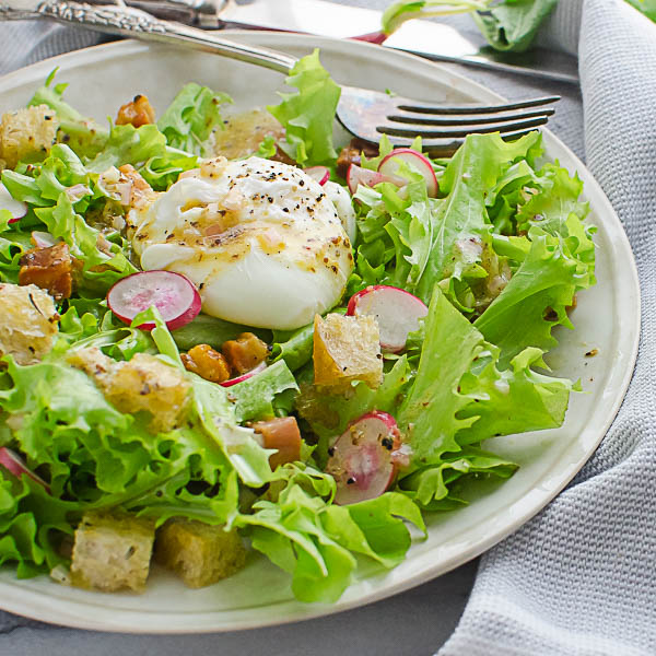 Tangy Frisee Lardons Salad