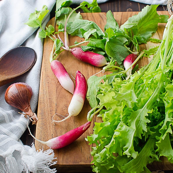 French Radishes and Frisee