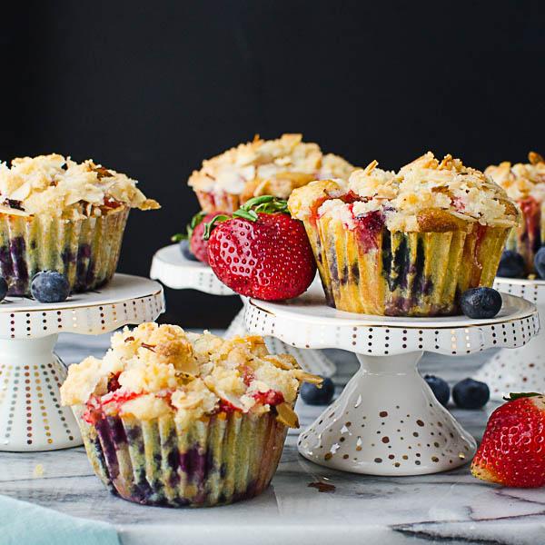 Individual Berry Streusel Coffeecakes group shot