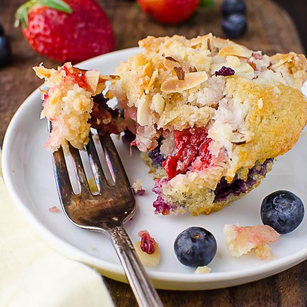 Eating Individual Berry Streusel Coffeecakes