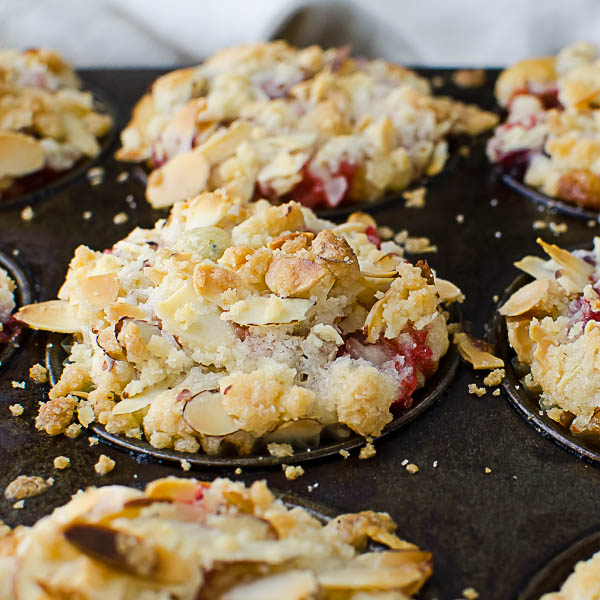 Baking Individual Berry Streusel Coffeecakes