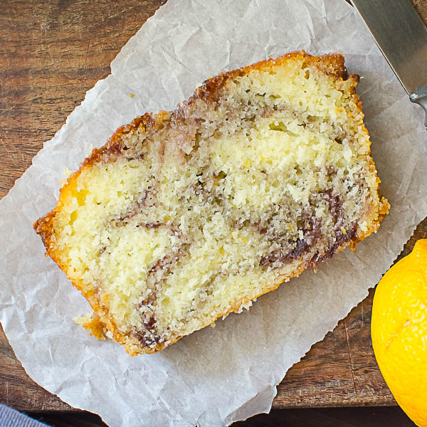 Meyer Lemon Blackberry Swirl Loaf