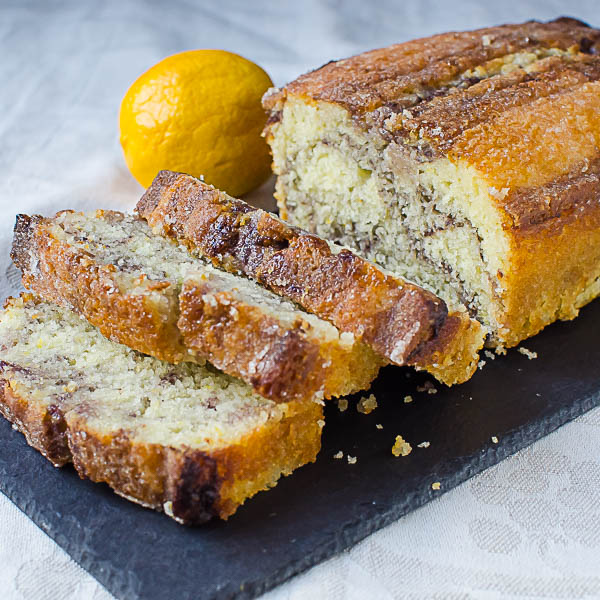 Meyer Lemon Blackberry Swirl Loaf