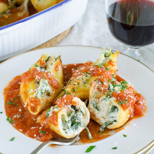 Eating Mushroom Kale Stuffed Shells