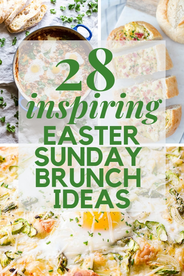 These 28 mouthwatering Easter Sunday brunch ideas will inspire you. The best brunch recipes from the world wide web. Pour a mimosa and get ready! #easterbrunch #easterbrunchmenuideas #easterbrunchideas