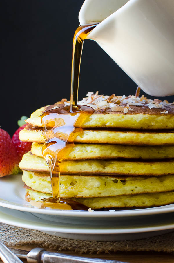 Coconut Orange Buttermilk Pancakes