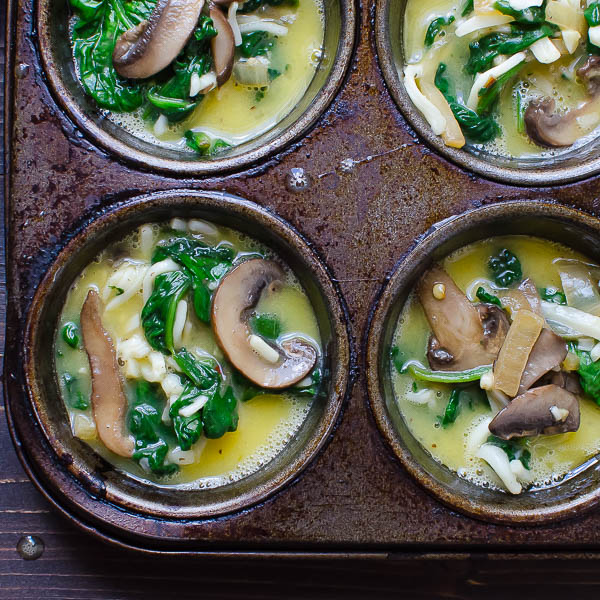 Individual Spinach Mushroom Frittatas | Garlic & Zest