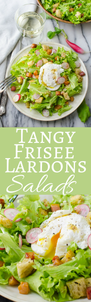 An easy recipe for frisee salad with lardons and a poached egg! Makes a delicious lunch or light dinner. #ad #GentleHydration #CollectiveBias